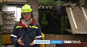 TVNZ reporter Megan Martin reports from the Tiwai Point Aluminium Smelter near Bluff.