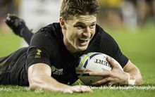 Beauden Barrett scores a sensational try in the Rugby World Cup final.