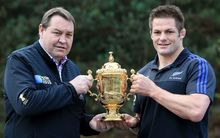 All Blacks coach Steve Hansen and All Blacks captain Richie McCaw.