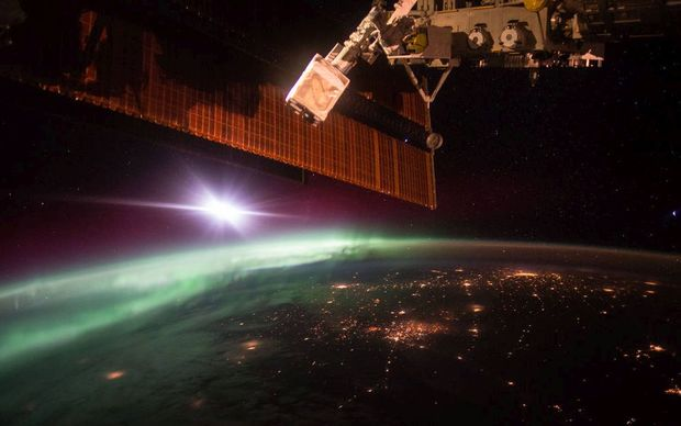 Aurora seen from the Space Station.