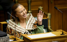 New Green party  MP, Marama Davidson, after she was sworn into Parliament today.