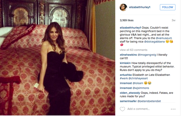 Liz Hurley on Instagram