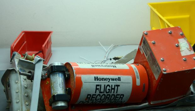 The black box taken from the Russian Airbus that crashed over the Sinai Peninsula.