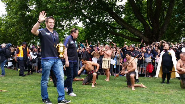 Richie McCaw at the Auckland World Cup victory celebrations