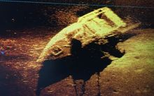 Navy images captured the wreck on the ocean floor.