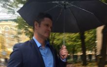 Chris Cairns arriving at Southwark Crown Court in London.