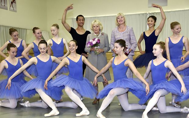 The Duchess of Cornwall at Te Whaea, the National Dance and Drama Centre in Wellington.