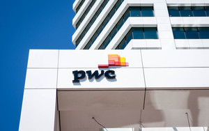 PWC building logo in Auckland Central City
