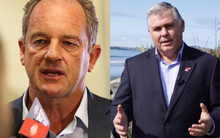 David Shearer (left) and Mark Mitchell will be arriving in Myanmar today.