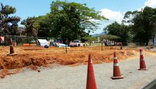 Fiji roadworks, near Nadi.