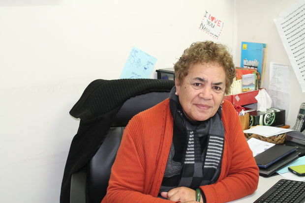 Ngarau at her office, Taumarunui