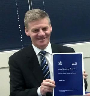 Bill English says the Government remains on target to return to surplus in 2014-15.