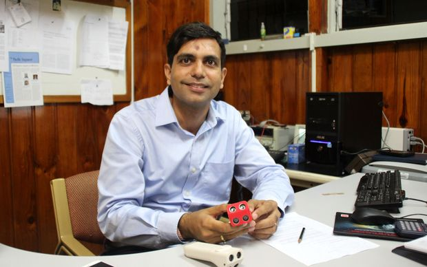 USP engineer Utkal Mehta with his mobility device.