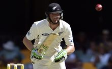 New Zealand's batsman Martin Guptill during day two of the first Test cricket match between Australia and New Zealand in Brisbane on 6 November.