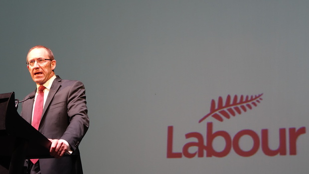 Labour leader Andrew Little addresses delegates at the party conference in Palmerston North