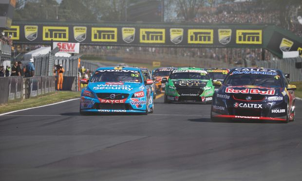 Jamie Whincup off the line in the ITM 500