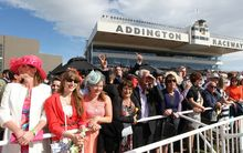 Crowds at last year's Trotting Cup day, Addington.