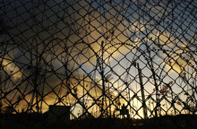 A fence at a detention centre on Christmas Island