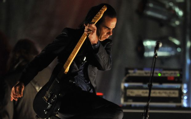 Nick Cave on stage at Auckland in 2010.