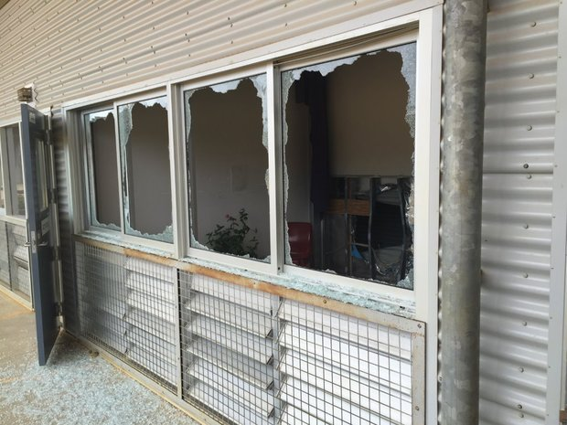 A supplied image shows damage following unrest at the Christmas Island Immigration Detention Centre. The photo was supplied on 11 November 2015 by the office of Australian MP Peter Dutton.