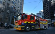 A fire engine on Wellington's Lambton Quay.