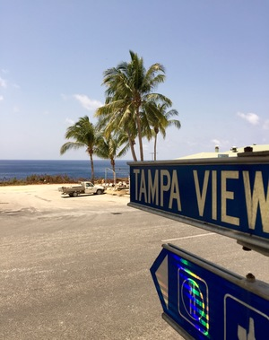 Tampa view sign