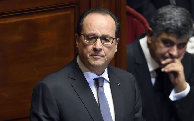 President Francois Hollande addressing parliament.