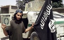 An undated picture purportedly showing  27-year-old Abdelhamid Abaaoud, taken from a February 2015 issue of Islamic State (IS) online magazine Dabiq.