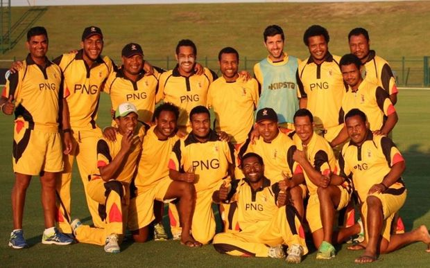 The Papua New Guinea Cricket team in the UAE.