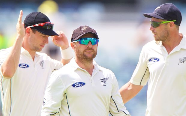 Brendon McCullum was pleased with the efforts of his side in the drawn second test in Perth.