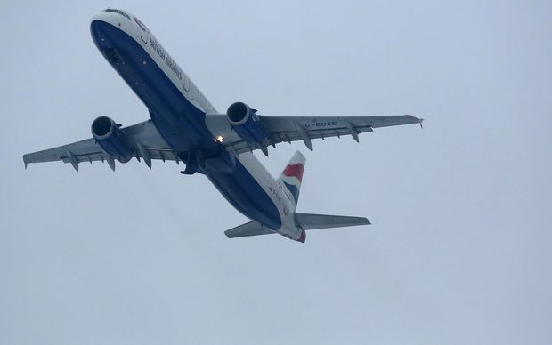 A British Airways shortly after take off from Heathrow Airport in London.