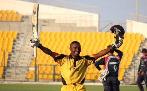 PNG captain Jack Vare starred with the bat against Nepal.