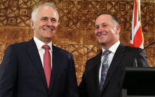 Australian Prime Minister Malcolm Turnbull and and New Zealand PM John Key
