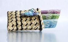 Kete with money in it.