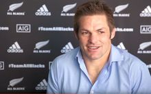 Richie McCaw at the announcement of his retirement from rugby.