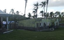 One of the schools damaged by Cyclone Pam in Vanuatu's Tafea province.