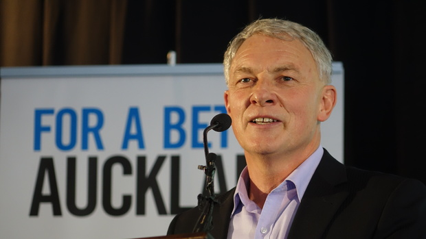 Phil Goff said his mayoralty bid would focus on traffic congestion and building more homes.