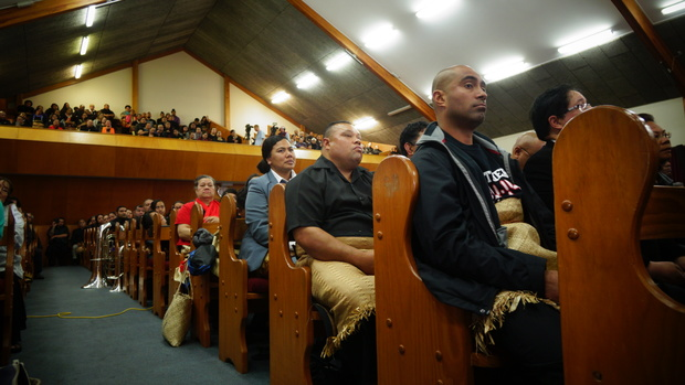 About 600 people attended the service at a Mangere church.