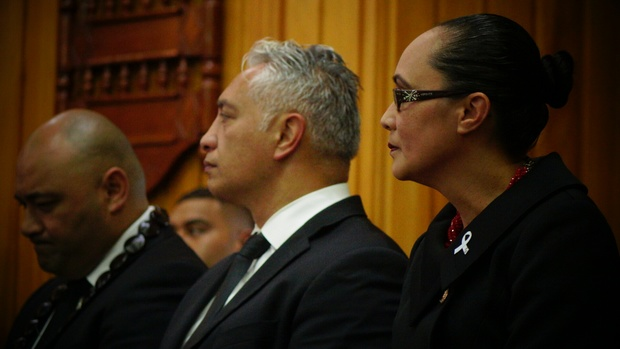 MPs (from left) Pacific Peoples Minister Peseta Sam Lotu-Iiga, Alfred Ngaro and Jenny Salesa.
