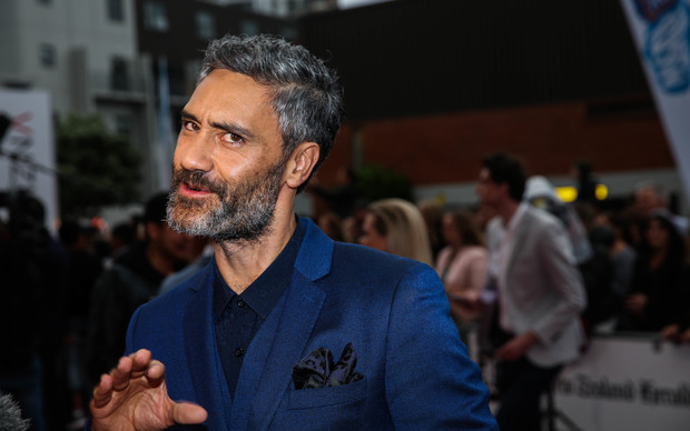 Taika Waititi on the red carpet at the 2015 Vodafone New Zealand Music Awards.