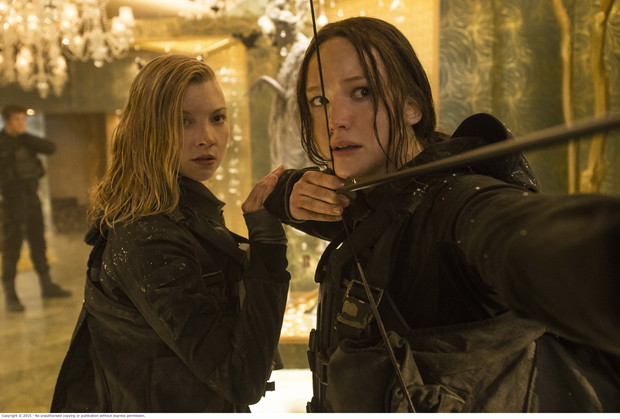 Natalie Dormer as Cressida and Jennifer Lawrence as Katniss in Francis Lawrence's The Hunger Games: Mockingjay Part 2