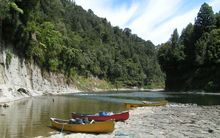 Canoe landing site at Mangapāpapa on the Whanganui River.