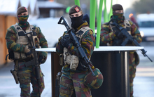 Soldiers patrol the streets of Brussels as the city remains on high alert