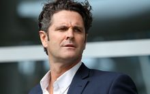 Chris Cairns arrives at Auckland Airport in Auckland on May 30, 2014.