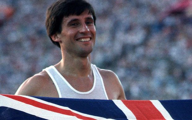 Seb Coe after winning the 1500m gold medal at the 1984 Los Angeles Olympics.