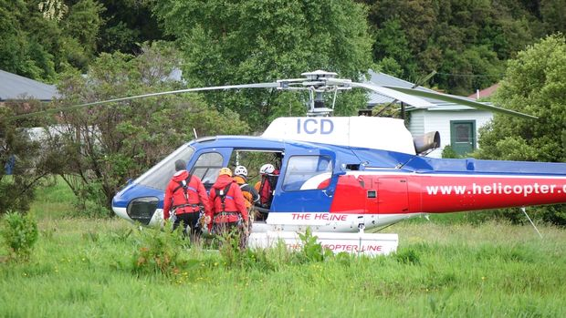 Rescue helicopter used to recover the last three people who died in the crash.