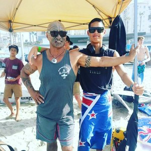 Kehukehu Butler supports Kehu at international surfing events.