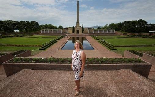 NZ Flower & Garden Show event director Kate Hillier at Bastion Point, where the event will be held in November 2016.