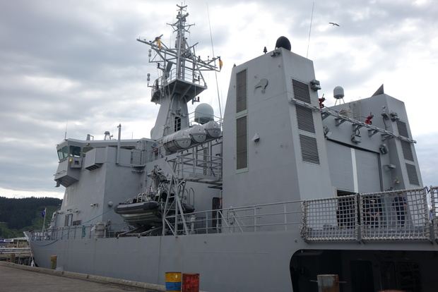 Port side of HMNZS Otago.