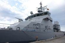 Front of the HMNZS Otago.